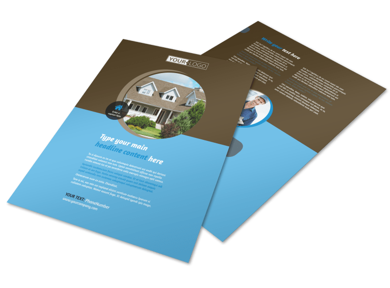 Home Security Installation Flyer Template Preview 1