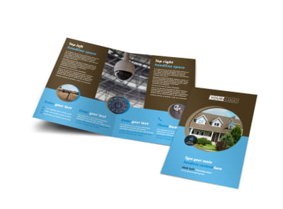Home Security Installation Bi-Fold Brochure Template