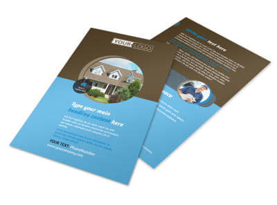 Home Security Installation Flyer Template 3