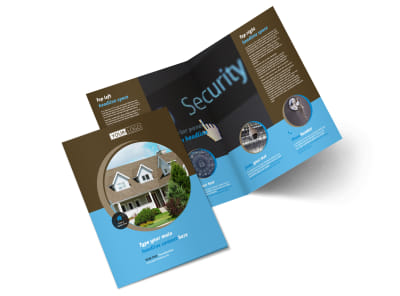 Home Security Installation Bi-Fold Brochure Template 2