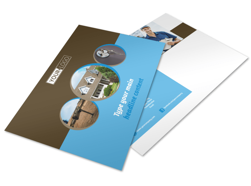 Home Security Installation Postcard Template Preview 1