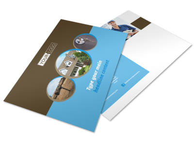 Home Security Installation Postcard Template preview