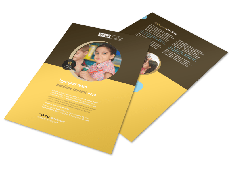 Learning Center Flyer Template Preview 1