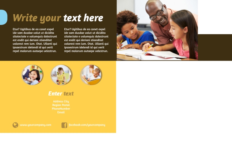 Learning Center Postcard Template Preview 3