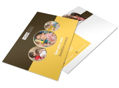 Learning Center Postcard Template