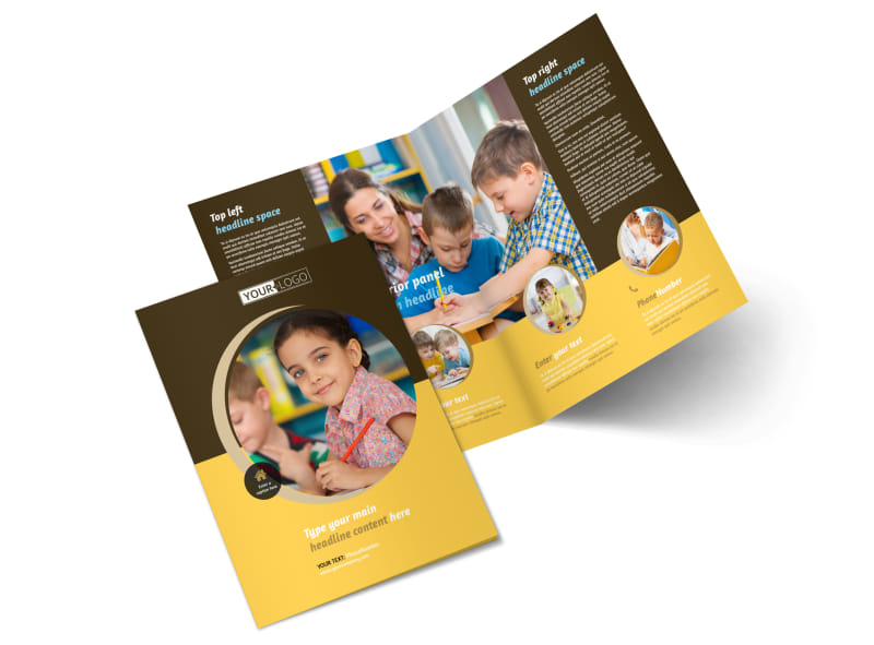 Learning Center Bi-Fold Brochure Template 2