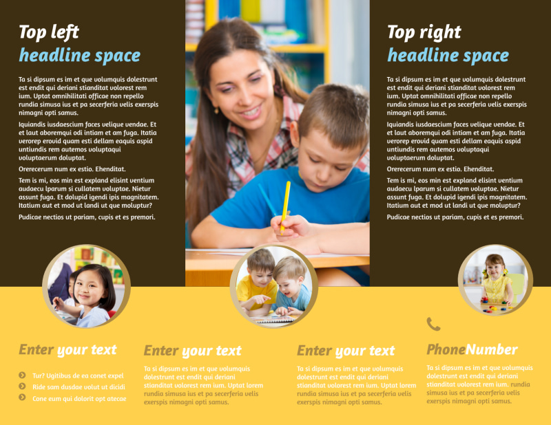 Learning Center Brochure Template Preview 3