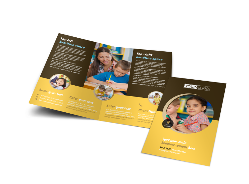 Learning Center Brochure Template Preview 1