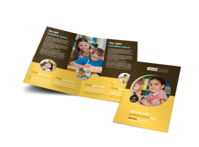 Learning Center Bi-Fold Brochure Template