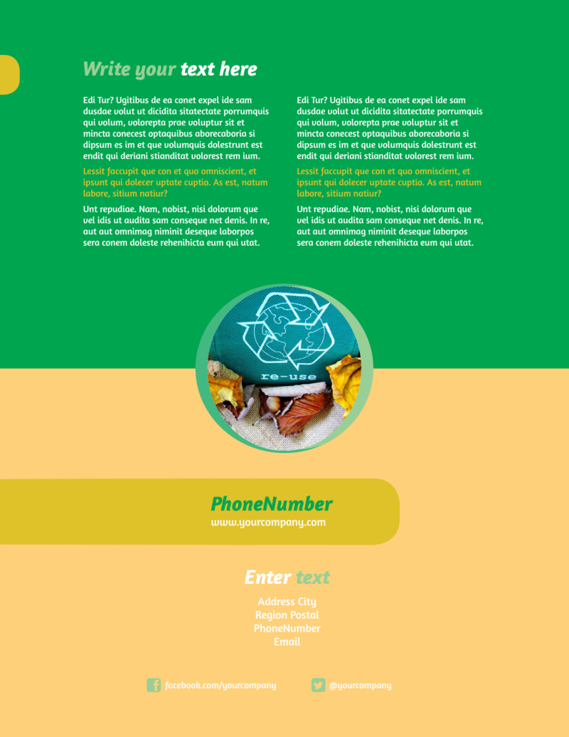 Recycling Flyer Template Preview 3