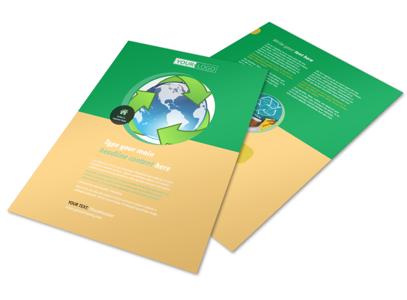 Recycling Flyer Template Preview 1