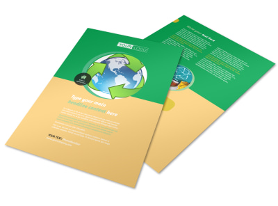 Recycling Flyer Template preview