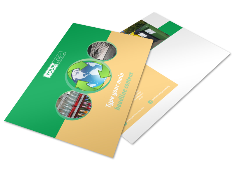 Recycling Postcard Template