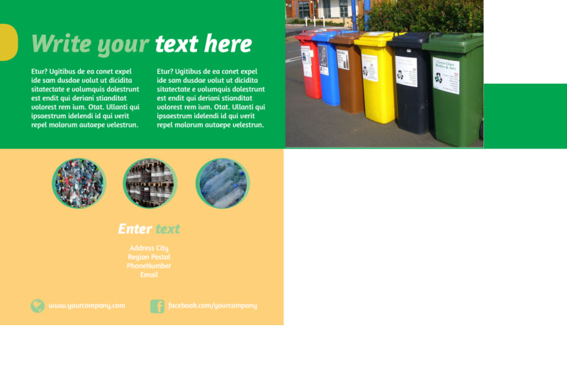 Recycling Postcard Template Preview 3