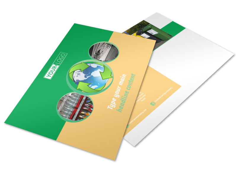 Recycling Postcard Template Preview 1
