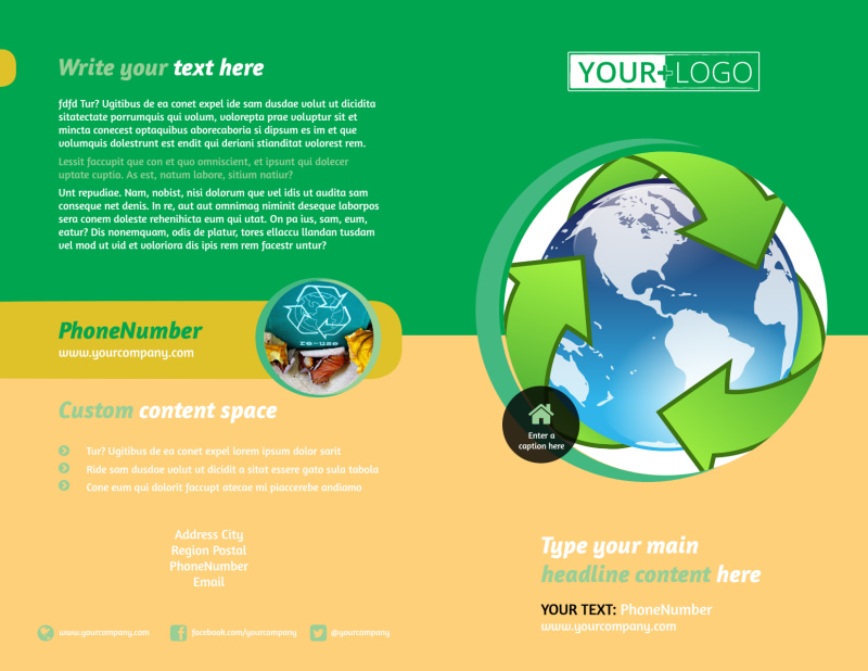 Recycling Brochure Template Preview 2