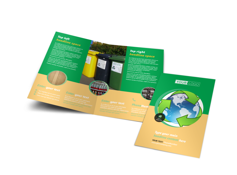 Recycling Brochure Template Preview 1