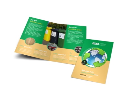 Recycling Bi-Fold Brochure Template preview