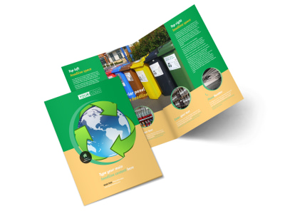 Recycling Bi-Fold Brochure Template 2