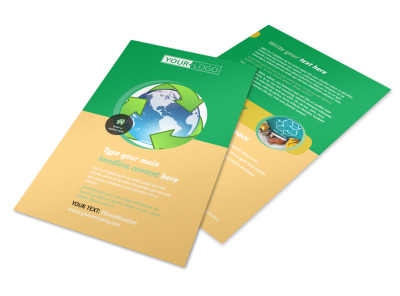 Recycling Flyer Template 3