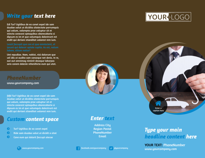 Reliable Auto Insurance Brochure Template Preview 2