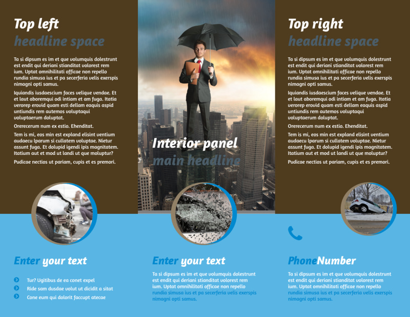 Reliable Auto Insurance Brochure Template Preview 3
