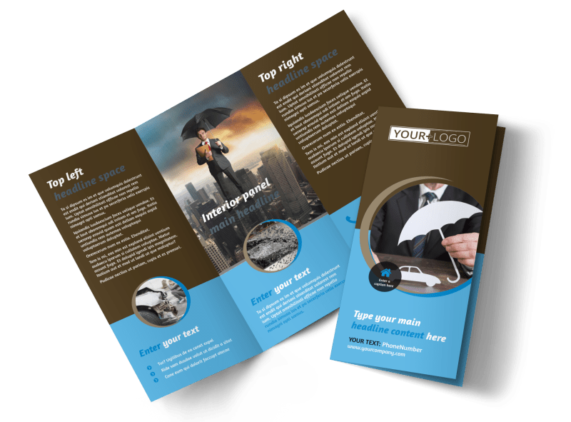 Reliable Auto Insurance Brochure Template Preview 1