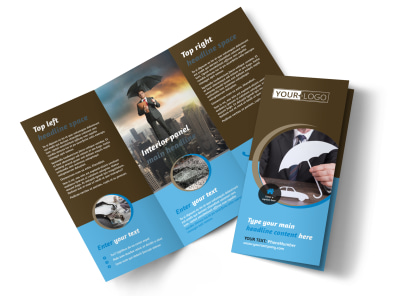 Car Insurance Company Tri-Fold Brochure Template