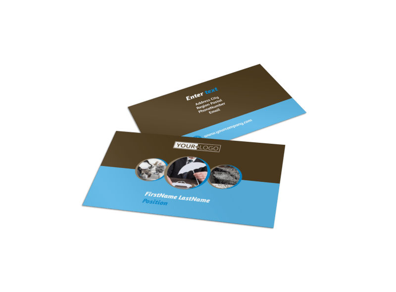 Reliable Auto Insurance Business Card Template Preview 1