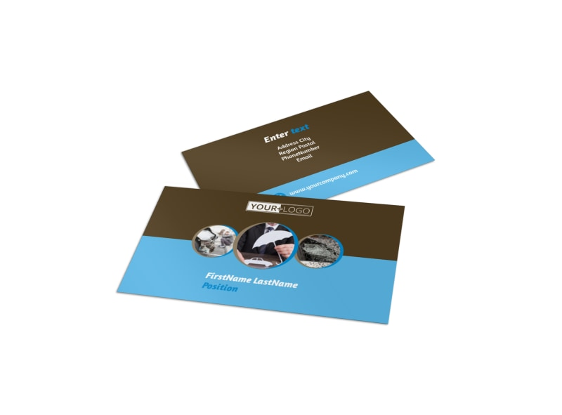 reliable auto insurance business card template