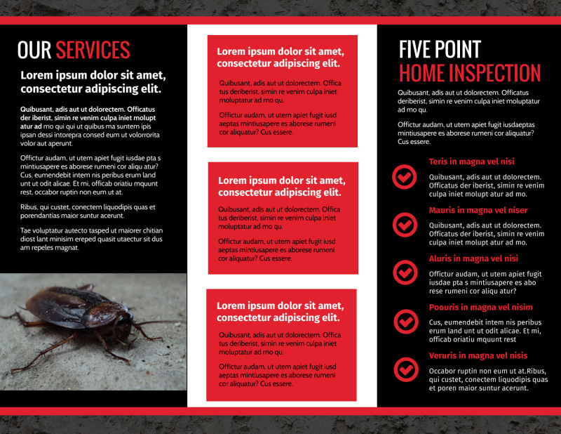 Pest Control Brochure Template Preview 3