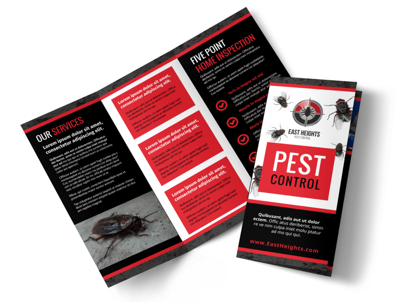 Pest Control Brochure Template Preview 1