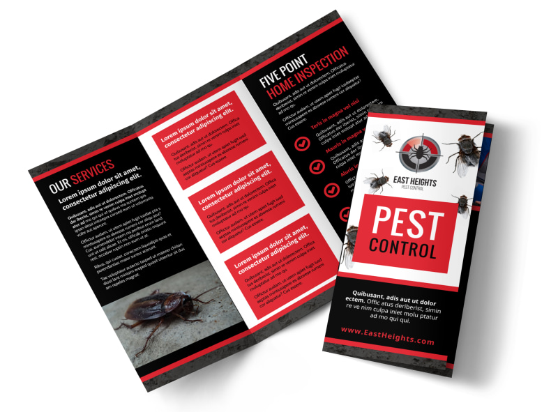 Pest Control Brochure Template Preview 4