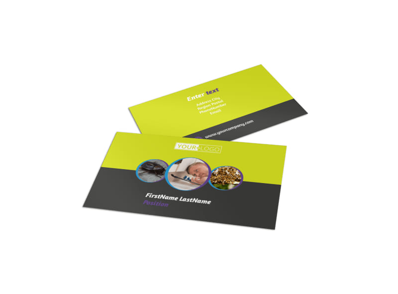 Pest control business card template mycreativeshop pest control business card template reheart Images