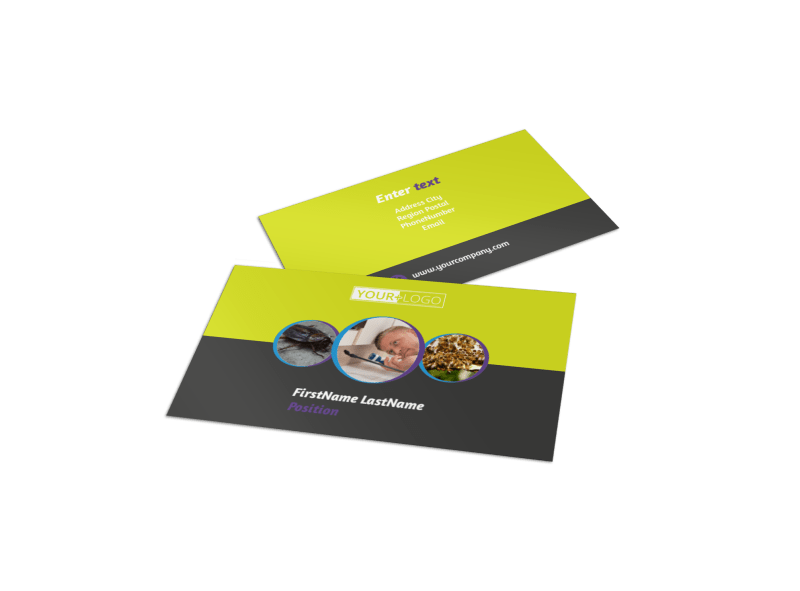 Pest Control Business Card Template Preview 1