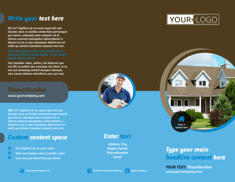 Home Security Installation Brochure Template Preview 2