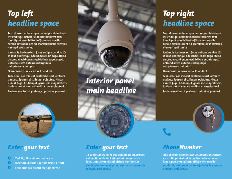Home Security Installation Brochure Template Preview 3