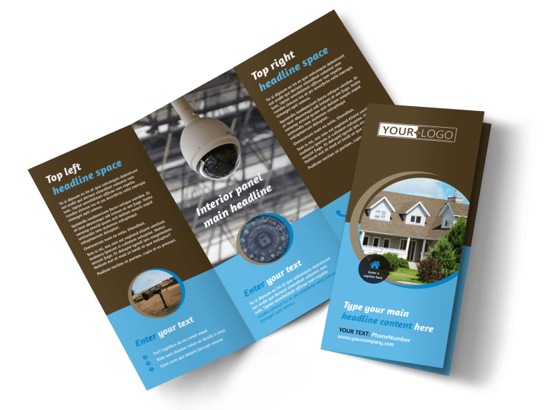 Home Security Installation Brochure Template Preview 1