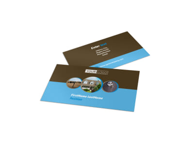 Home Security Installation Business Card Template preview