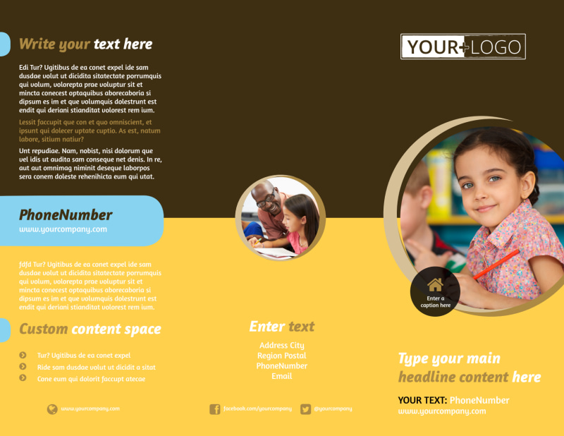 Learning Center Brochure Template Preview 2