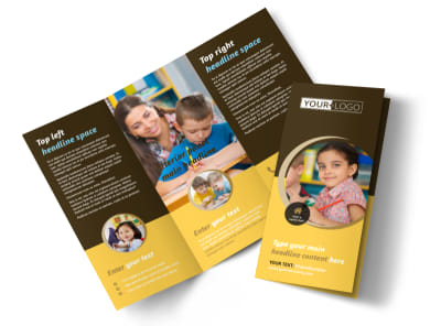 Learning Center Tri-Fold Brochure Template