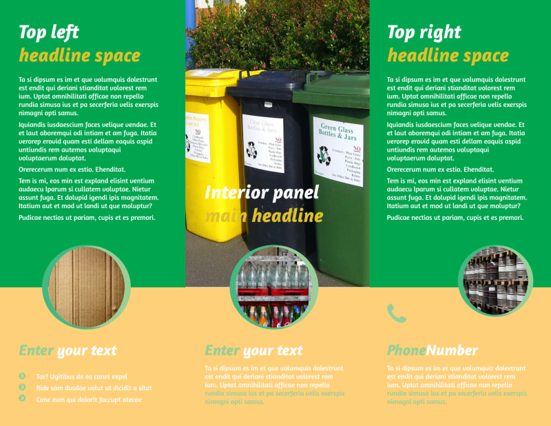 Recycling Brochure Template Preview 3