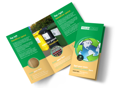 Recycling Tri-Fold Brochure Template preview