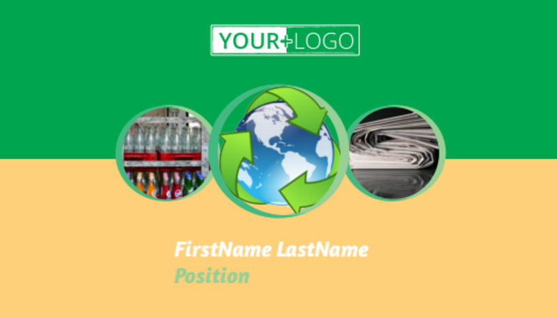 Recycling Business Card Template Preview 2