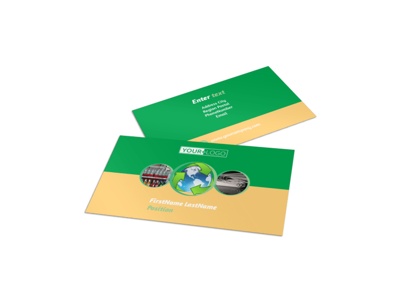 Recycling Business Card Template Preview 1