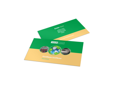 Recycling Business Card Template preview