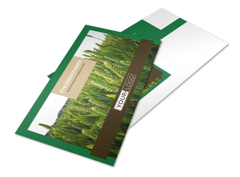 Farming & Agriculture Postcard Template 2