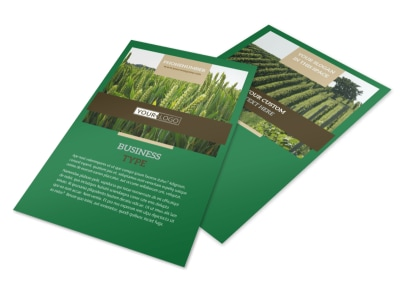 Farming & Agriculture Flyer Template 3