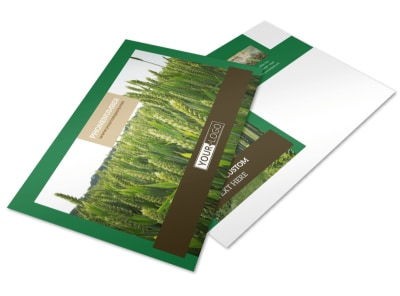 Farming & Agriculture Postcard Template preview
