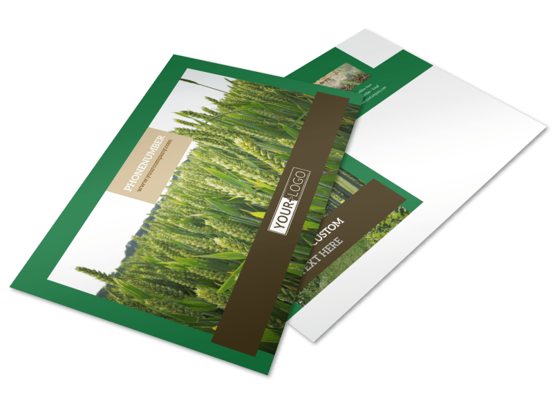 Farm Consultants Postcard Template Preview 1